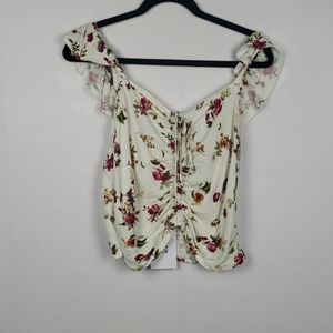 NWT WAYF FLORAL BLOUSE
